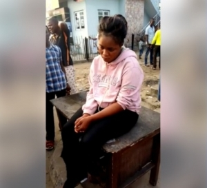 Confusion After Young Lady Is Dropped Off By Benz Driver In Warri (Photos)